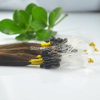 "Remy A Loop/Micro Rings 100 Strands 20""Long 50g 100% Human Hair Extensions,#02 Dark Brown"
