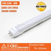 free shipping 6pcs/lot 110V&220V led bulbs 1.2m tubes led tube 1200mm t8 SMD2835 1600lm warmwhite/coolwhite