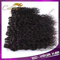 Queen Berry  Hair Products Virgin Brazilian curly hair Free part Lace closure with 3pcs Human Hair Bundles Brazilian Virgin Hair