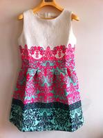 Summer new arrival 2014 fashion princess dress spring three-dimensional royal print one-piece dress sleeveless tank dress