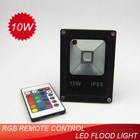 5pcs/lot 10W RGB LED flood light whit IR remote control (24 keys controller)AC85~265V