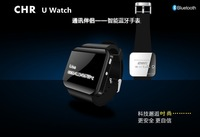 free shipping 2014 Brand Newest Smart bluetooth uwatch phone book Calling SMS Music Android mobile phone 2 color phone watch