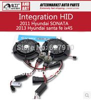 Super bright  integration of special car H1  HID Xenon light case for 2011 Hyundai SONATA ,2013 Hyundai santa fe ix45