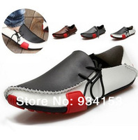 2014 Popular  Men Shoes Flat Genuine Leather Driving Moccasins Slip On men's shoe Men footwear casual shoe