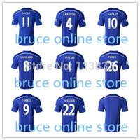 2014-2015 Frabregas Lampard MATA HAZARD TORRES OSCAR DAVID LUIZ Jersey 14 15 Chelsea Jersey TOP Thai Quality Home BLUE Jersey