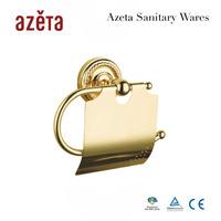 Golden Copper Toilet Paper Holder Paper Rack Gold Plated Towel Rack Fashion 2014