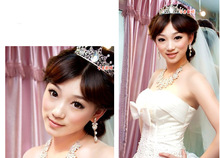 Fashion Lolita Bridal Wedding Hair Crown NEckalce Earring Set Marriage Jewelry Wedding Accessory