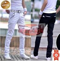 New Fashion 2014 Spring Slim Skinny Pants Cotton White Pants Multicolor Male Summer Casual Harem Pants Men Size:27-34