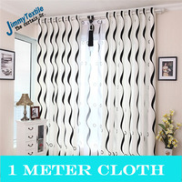 Promotion!1 meter Modern stripe curtain finished products window screening balcony piaochuang shade cloth