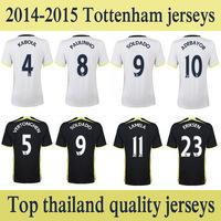 2014 2015 ADEBAYOR SOLDADO soccer jerseys top thailand quality LAMELA ERIKSEN VERTONGHEV Paulinho LENNON football jerseys shirts