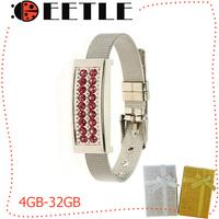 Bracelet usb pen drive 16gb/32gb/8gb/4gb usb 2.0 u disk gift box flash drive memory card watch usb flash