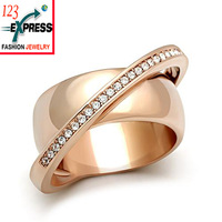 Hot 2014 Fashion vintage rings Rose gold plated finger ring women accessories party wholesale