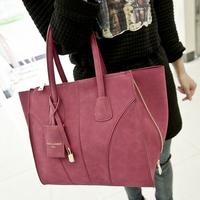 2014 scrub women handbag fashion desigual women suede leather handbags deformation shoulder bags tessel lock chain women bag
