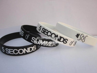 5 SECONDS of SUMMER wristband,5 SOS wristband,silicone bracelet,custom design,promotion gift