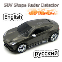 100% Factory price SUV Style Radar Detector with LED display Russian/English version radar detector WholeSale Free Shipping