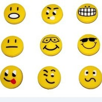 Free shipping(25pcs/lot)Smiley face and funny face of vibration dampener/tennis racquet/tennis racket