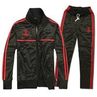 New 2014 AC Milan Champions League Soccer Jerseys Men Football Training Suit Jacket and Pant Brand Futbol Tracksuit Sportswear