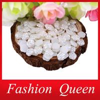 2014 Newest Cream Resin Flower 3d Nail Art Decorations,8mm(200pcs/lot)Flat Back Acrylic Nail Accessory Jewelry