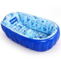 Baby bathtub child baby newborn inflatable insulation thickening cold-proof portable bathtub