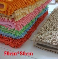 Free shipping chenille carpet mats doormat kitchen bathroom bath mats absorbent non-slip mat (50 * 80) tapete can be customized