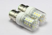 5pcs/lot New and hot selling 220V 230V 200-240v 9W B22 SMD 5730 LED corn bulb lamp 24 LEDS 750LM Warm white /white led lights