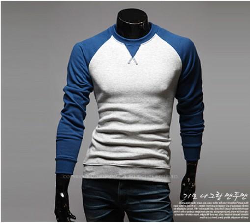 Les chandails de tricot hommes Raglan