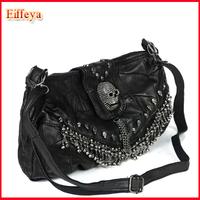 Punk Big Skull Bags Studded Chain Fashion Genuine Leather Handbag Sheepskin Women Shoulder Bags PH02 Wholesale