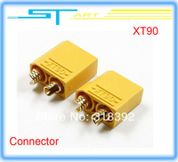 wholesale 50pairs/lot XT90 Battery Connector Set 4.5mm Male Female gold plated banana plug Suit For 90-120A current f helikopter