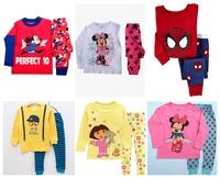 2014 adorable cartoon kids pajamas set/Cotton children pajamas suit/Hot sale children clothing set
