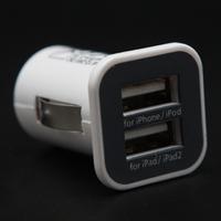 Micro Universal Dual 2 Port USB Car Charger For iPhone iPad iPod 3.1A Mini Car Charger Adapter / Cigar Socket
