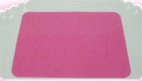 High Quality Silicone Macaron Baking Mat Mold Pink Color Mold Round Shape Bakeware Baking Sheet Cake Tool Pastry ToolsRD2013