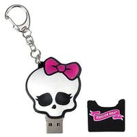 Retail cartoon keychain Monster High Skullette USB Flash Drive pen drive memory stick pendrive 8GB 16GB 32GB 64GB Free shipping