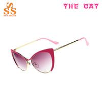 Big Sale Brand Cat Elf Women Sunglasses,Fashion Evening Lunettes De Soleil,Top Quality Hard Resin Lens Metal Gafas De Sol G180
