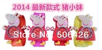 kids colorful jelly silicone clap clock , children lovely peppa pig slap watch free shipping 10pcs/lot