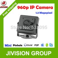 Mini 960P IP Camera hidden 1.3Megapixel IP camera Pinhole HD 3.7mm Lens Onvif H.264 Low Lux P2P Cloud cctv mini camera IP 1.3MP
