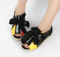 2014 summer new lace flower girls sandals shoes  fish head shoes breathable gauze