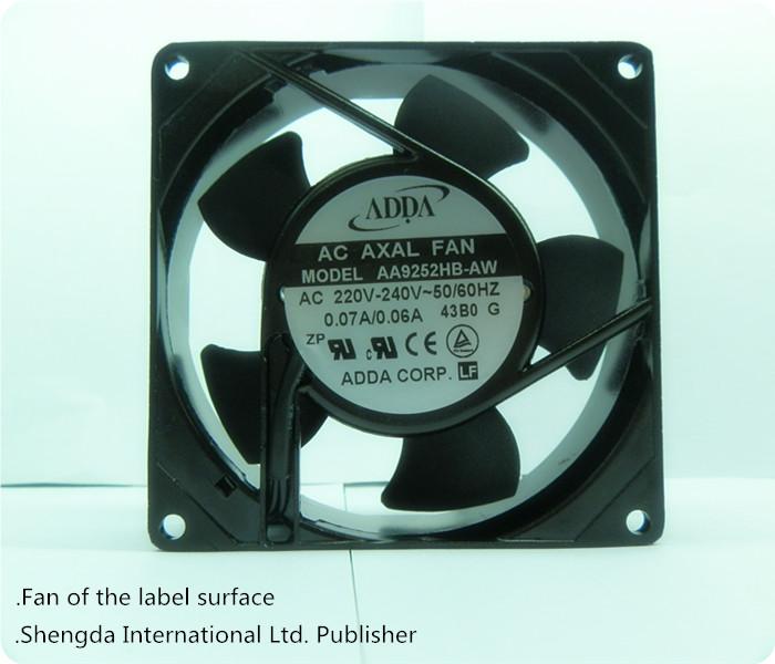 2014 förderung Zeit- begrenzte Macht ac axiallüfter! Schwarze große lüfter 220v 2-poligen 92mm 9.2cm 9225 92* 92* 25 2pcs/set