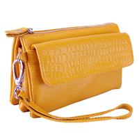 2014 women's handbag female day clutch genuine leather clutch coin women's cosmetic messenger bag
