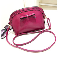2014 Fashion women's handbag cutout sweet bow one shoulder cross-body bag small shell bag messenger bags