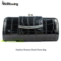 2014 Classic Crocodile Print Evening Bag PU Leather Designer Party Women Clutch Purse Bag