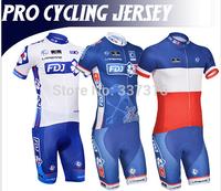 2014 FDJ Cycling Jersey Short Sleeve And (Bib) Shorts Ropa Ciclismo Maillot Clothing MTB High quality!!!
