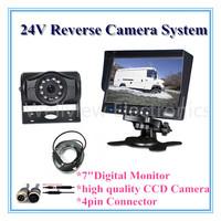 "Bus Camera Kit with Rear Camera CCD and 7"" Monitor 24V"