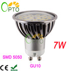 NEW Free shipping 6 pcs/lot LED spotlight 7W GU10 85-265V 220V 230V 240V 24pcs SMD5050 led spot light bulb lamp light(China (Mainland))