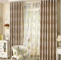 Modern brief double faced jacquard curtain window screening curtain fabric