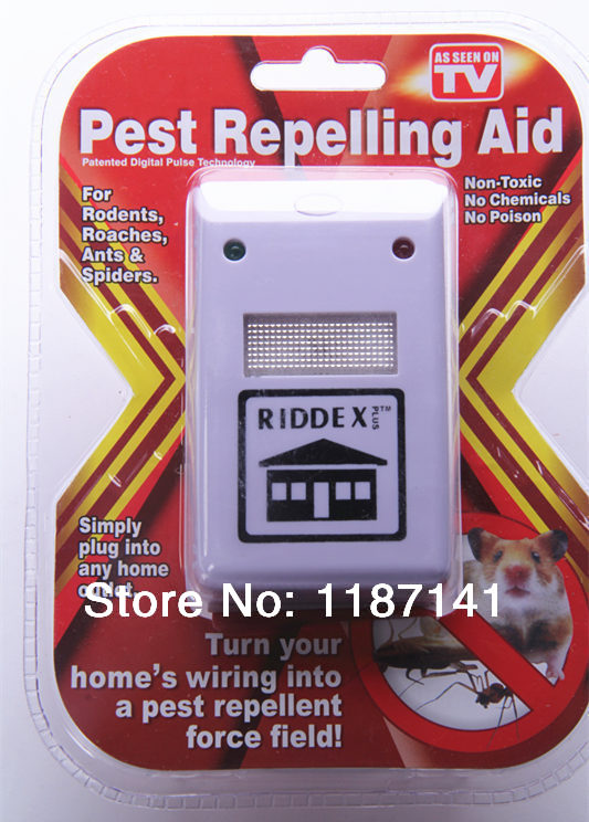 2014 new Riddex electronic repeller pest repelling aid ultrasonic insecticide mosquito rodent pest killer220v/110v As seen on TV(China (Mainland))