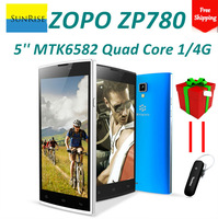 New Original ZOPO ZP780 mtk6582 quad core cell phones android 4.2 5.0inch full hd screen 1GB RAM 4GB ROM 5mp camera 3G/GPS/OTG