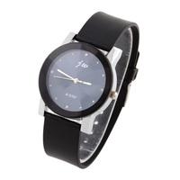 Men's Casual Watch Simply Style PU Strap Sport Watches Diamond Hours Quartz Analog