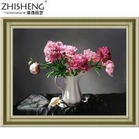 Full drill DIY cross stitch kit new diamond white vase painting decorative painting living room bedroom home