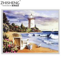 Diamond Painting Landscape Oil Painting Seaside lighthouse DIY Diamond Home decorative painting Full drill