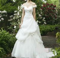 2015 autumn and winter slit neckline elegant short trailing bridal gown royal elegant bandage princess wedding dress